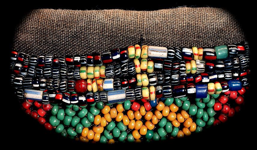 carrier beads. dayak beads david howard tribal art carrier beads