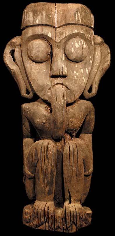 Dayak Statue Bahau Tribal Art David Howard Dayak Statue