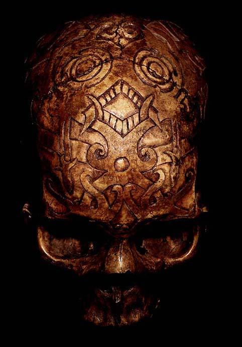 DAYAKCARVED: HEAD HUNTING HUMAN TROPHY #12