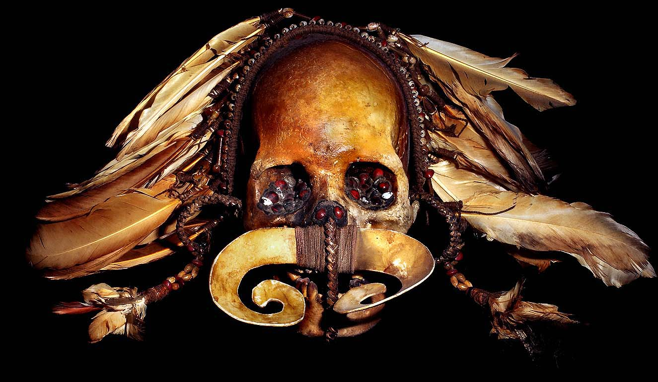 asmat tribe human ancestor skull 2 for additional information please ...