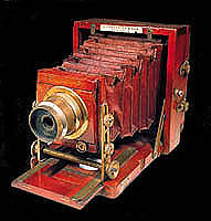 antique wooden camera